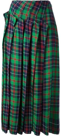 Comme Des Garçons Vintage tartan check skirt