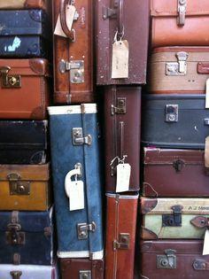 Empty bags, endless possibilities... Travel Bags, Empty, Suitcase, Vintage, Travel Handbags, Travel Tote, Vintage Comics, Briefcase, Suitcase Cake