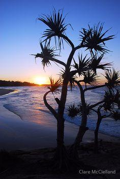 Sunset Cylinder Beach, North Stradbroke Island, Queensland Australia