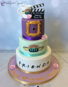 67 ideen party freunde lustige geschenkideen Freinds stuff 67 ideas party friends funny gift ideas F Friends Birthday Cake, Friends Cake, 13th Birthday Parties, Cake Birthday, Birthday Desserts, Funny Birthday, 14 Birthday Party Ideas, 25th Birthday Ideas For Him, Friends Tv Show Gifts