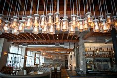 Thrillist 47 lays out new and sort-of new places to eat and drink in Miami (by neighborhood). Coral Gables, Restaurant Design, Restaurant Bar, Restaurant Interiors, Interior Architecture, Interior Design, Table Bar, Brew Pub, Jar Lights