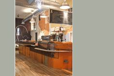 #reclaimed, City O City | Barista Bar - design and build out of reclaimed materials (Fruehauf Moving Trailer from 1946) 2010/2011 by Custom by Rushton