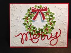 Wondrous Wreath, Christmas Card, Stampin' Up!
