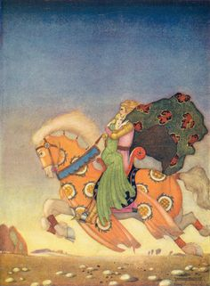 Thomas Mackenzie ~ Tristam Carried His Love Away ~ Arthur and His Knights by Christine Chaundler ~ Nisbet and Co., Ltd., n.d., c1920   ...