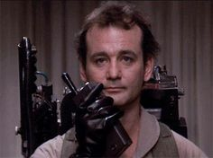 Peter Venkman or Bill Murray, that is. Bill Murray Ghostbusters, Female Ghostbusters, Ghostbusters Reboot, Ghostbusters Movie, Excellent Movies, Great Films, Good Movies, Awesome Movies, Iconic Movies