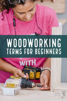 A complete guide to the woodworking terms for beginners. Great glossary with all the definitions that you need to know. Includes printable PDF. #anikasdiylife