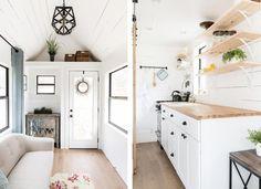 Czy gdybyśmy mogli zabrać ze sobą swój własny dom, podróżowalibyśmy częściej? Mobilne domy stają się coraz popularniejsze. Czy warto w nich zamieszkać? Tiny House, Kitchen Island, Storage, Furniture, Home Decor, Island Kitchen, Purse Storage, Decoration Home, Room Decor