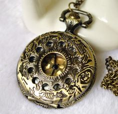 Medium Size Pocket Watch with free Necklace Chain  by ministore, $4.90