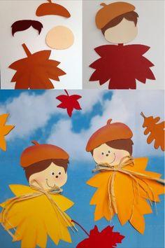 Aus dem Blog der Buntpapierwelt.de  Der September hat schon einladend seine Türen geöffnet und da zeigen sich die ersten Blätter in ihren bunten Farben: Kräftiges Rot, liebliches Orange und sanfte Gelbtöne dominieren in der Herbstzeit. Passend dazu stelle ich Euch diese gutgelaunten Blätterkinder vor.  Easy Crafts For Kids, Toddler Crafts, Diy For Kids, Diy And Crafts, Paper Crafts, Autumn Art, Autumn Theme, Scarecrow Crafts, Fabric Tree