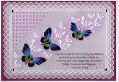 Design by Tina Cox Did this in class with Susan Moran at Olive Green Crafts Parchment Cards, Green Craft, Decorative Items, Crafts To Make, Olive Green, Butterflies, Birthday Cards, Projects To Try, Card Making