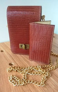 Leather cross body and cardholder http://www.saradewaele.be/collectie/