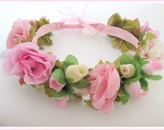 Tiara/ Coroa de Flores Baby/Infantil
