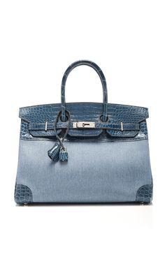 5b2c505a42f Hermès - Birkin 35 Blue Roi porosus crocodile   denim Birkin bag ( 109