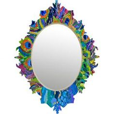 Cacophony of Color Baroque Mirror