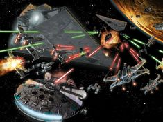 Star Wars Space Battle What Is Your Ranking Of The Space Battles In The Star Wars Films, Star Wars Galaxy Of Heroes Adds Ships And Space Combat, Space Battle Wallpapers To Cover Your Desktop In Glory Espace, Top Sci Fi Movies, Sci Fi Films, Star Destroyer, Space Warfare, Clash On, Sutra, Star Wars Spaceships, Star Wars 7, Space Battles