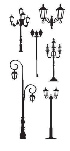 KLDezign les SVG: Des lampadaires