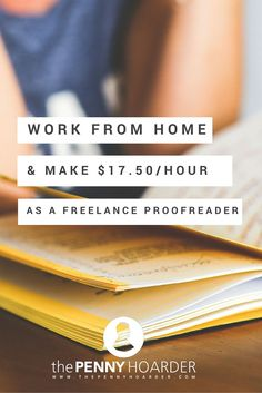 Curious about how to start proofreading as a side hustle or freelance business? Look no further - The Penny Hoarder - http://www.thepennyhoarder.com/work-from-home-freelance-proofreading/ make money for christmas #christmas