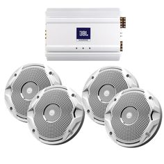 "JBL MS6510 Speakers & MA6004 Amp Package - (4) 6.5"" Speakers & (1) 4-Channel Amp"