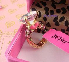 my Betsey Johnson wedding ring lol