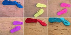 Com Atitude: Chinelos que deixam mensagens na areia