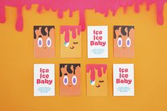Ice Ice Baby Ice Cream Shop on Behance Baby Ice Cream, Ice Ice Baby, Ice Cream Brands, Behance, Branding, Shopping, Brand Management, Brand Identity