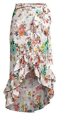 Pilyq Women's Kiki Ruffled Floral High-Low Midi Skirt Floral Tops, Pilyq, Women's Accessories, High Low, Midi Skirt, Skirts, Patterns, Fashion, Woman
