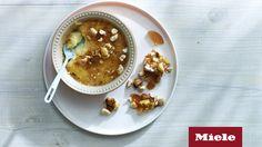 Milk Tart Crème Brûlée with Honey and Almond Brittle - Sarah Graham Food Delicious Desserts, Dessert Recipes, Yummy Food, Graham Recipe, Sarah Graham, Almond Brittle, Milk Tart, South African Recipes, Creme Brulee