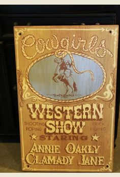 COWGIRLS Western Show SIgn . . . {junk gypsy co - http://gypsyville.com/ }