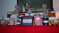 Carnival themed Candy Buffet
