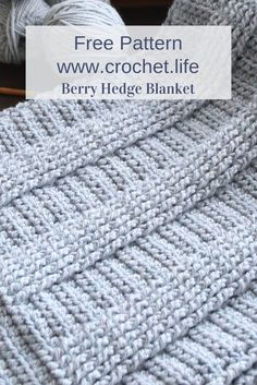 If you're looking to practice basic post stitches, this ribbed crochet blanket pattern is for you!Free Blanket Pattern DIY crochet pattern for blanket or throw by GoldenStrandStudi… / crochet. Crochet Afghans, Diy Crochet Patterns, Crochet Pillow Pattern, Crochet Diy, Baby Blanket Crochet, Crochet Crafts, Afghan Blanket, Baby Afghan Patterns, Tutorial Crochet