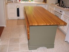 Awe Inspiring Kitchen Island With Drop Leaf And Butcher Block Island  Countertops Also Polished Brass Towel Ring On Top Of White Oak Kitchen  Cabinet Doors ...