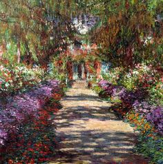 Claude Monet - Garden in Giverny