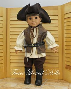 Pirate BOY Doll Outfit 18 Inch Doll Clothes by TwiceLovedDolls