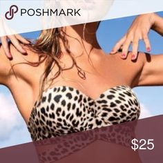 BNWT VICTORIA SECRET PINK MULTIWAY CHEETA SWIM TOP 10/10 condition. Open to trades and offers. Cheetah/Leopard/Animal print. Never worn, never tried on. Large A-C. Last pic is not mine. PINK Victoria's Secret Swim Bikinis