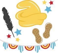 Flying Elephant SVG cut files for scrapbooking feather svg file banner svgs peanut svg