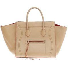 Pre-Owned Celine Phantom Grainy Leather Medium (136.230 RUB) ❤ liked on Polyvore featuring bags, handbags, beige, summer purses, beige leather purse, pre owned handbags, beige handbags and leather handbags
