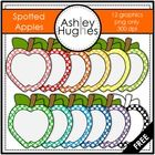 Spotted Apples FREEBIE {Graphics for Commercial Use} - Ashley Hughes