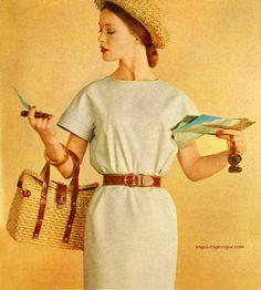 Holiday in Arnel - dress by Junior Sophisticates designed by Anne Klein 1960 Vintage Vogue, Vintage Glamour, Retro Vintage, Anne Klein, 1960s Fashion, Vintage Fashion, Women's Fashion, Vintage Dresses, Vintage Outfits