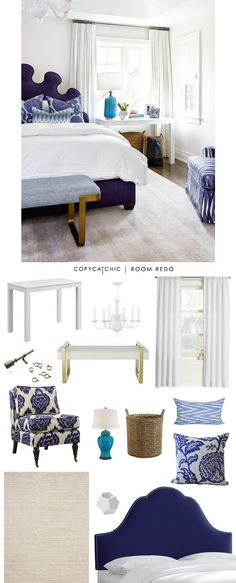 Copy Cat Chic: Copy Cat Chic Room Redo | Fresh Blue Bedroom by @lindseyboyer