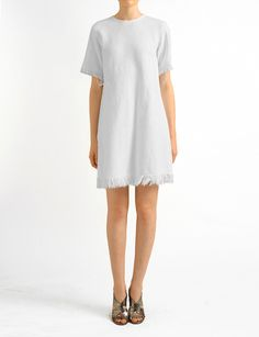 Alexander Wang T cotton twill dress with frayed hem at Bird : ShopBird.com