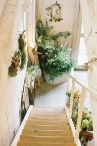 Great Entryway And Stairway With Plants