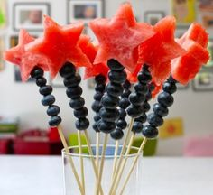 #DIY Watermelon and Blueberry Wands