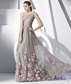 One Shoulder Strap Tulle Pronovias Prom Dresses PSPD071 $249.00  www.balllily.com offer Wedding Dresses, Bridesmaid Dresses, Evening Dresses ,Prom     Dresses ,Flower Girl Dresses And Mother Of The Bridal Dresses. www.balllily.com