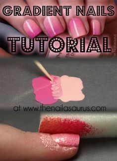 nailasaurus:    Is it just me or have Gradient Nails hit the internet hard this weekend?!I wrote a tutorial detailing my way of doing it and it works pretty darn well if I say so myself.  Click here to see the whole thing!