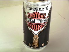 Harley-Davidson Sturgis '99 12oz Aluminum Sta Tab Bottom Opened
