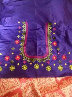 Fancy Blouse Designs, Blouse Neck Designs, Embroidery Works, Hand Embroidery Patterns, Embroidery Designs Free Download, Kutch Work Designs, Work Blouse, Siri, Sarees