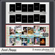 Sweet Shoppe Designs :: Templates & Tools :: Layout Templates :: 2 Many Photos 117 by Janet Phillips