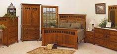 Bridgeport Mission Style Oak Bedroom Decoration Collection