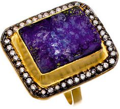 Meghna Designs Purple Textured Druzy Ring on shopstyle.com