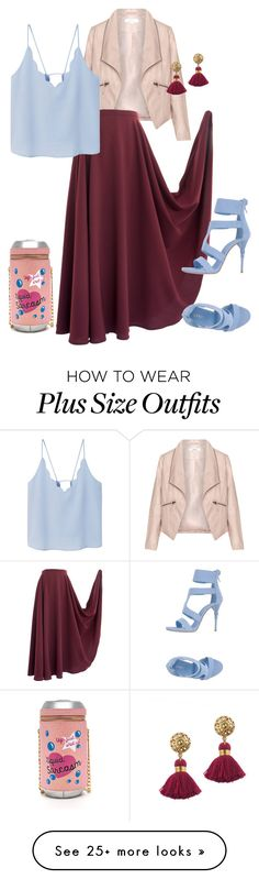 """Cranberry Maxi Skirt"" by slutskeran on Polyvore featuring Zizzi, Le Silla, MANGO and Rock 'N Rose"